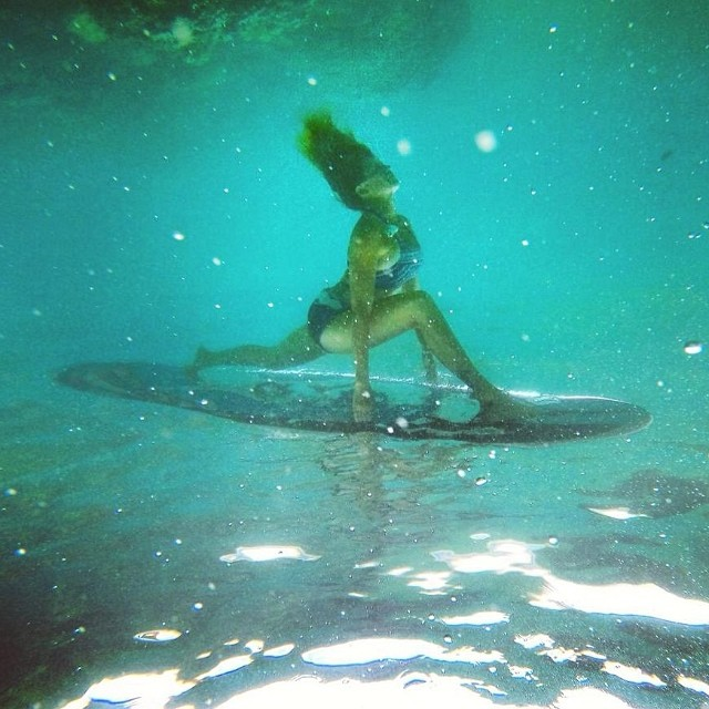Michelle Gierst of Redondo Beach has one of the most advanced SUP Yoga programs around! She is an incredible waterwoman, yogi, acroyogi, pilates instructor, adventurer, surfer, dog lover and environmentalist! She has several international retreats...