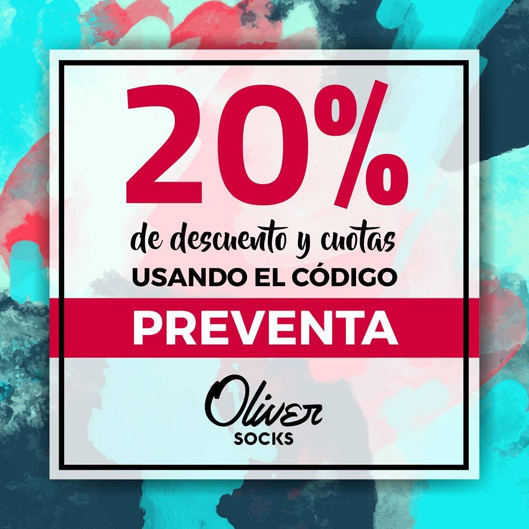 Sigue la preventa de la nueva colección y la#Promodel 20% OFF para todos los modelos en la web de#OliverSocks! Llevate tu par ahora con el descuento utilizando el cupón PREVENTA al finalizar tu compra.  Además, envío gratis a todo el país y pago...