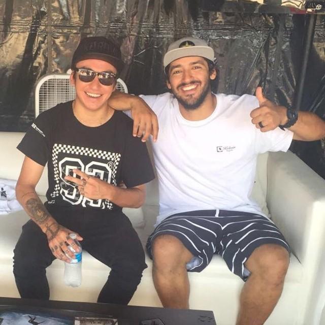 @luiznetosk8 e @kelvinhoefler no estande da G-Shock durante o US Open em Los Angeles - CA. #qix #qixskate #skateboardminhavida #qixteam
