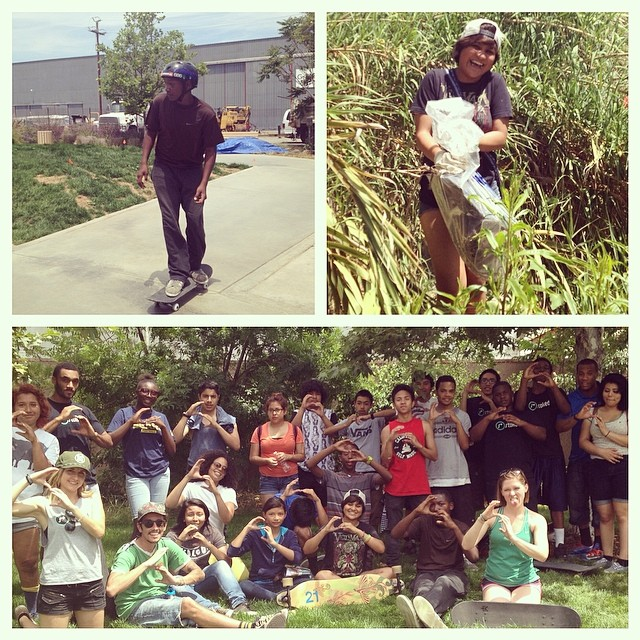 STOKED LA had our first Skate Mentor and Stoked to Serve this past Saturday. 20 of our youth helped clean the LA River, then went to learn and practice our skating skills. We are #stoked to be skateboarding! #stokedla #stokedtoserve #skatementor...