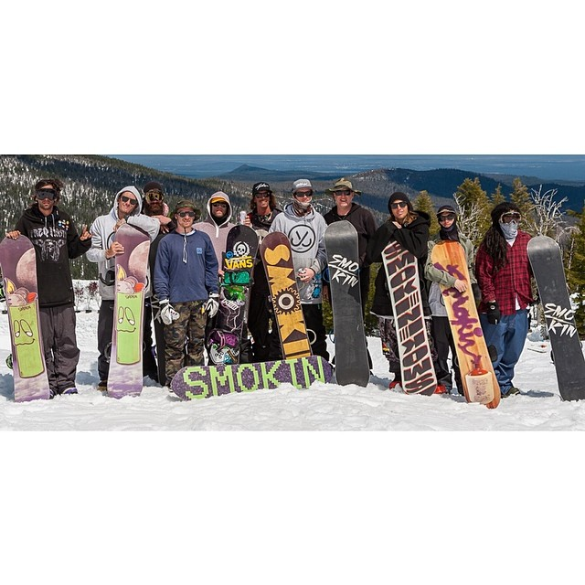 It's Superpark time of year again- this is our crew last year. We're rolling deeper this season, can't wait! #foridersbyriders #handmadelaketahoe #ok