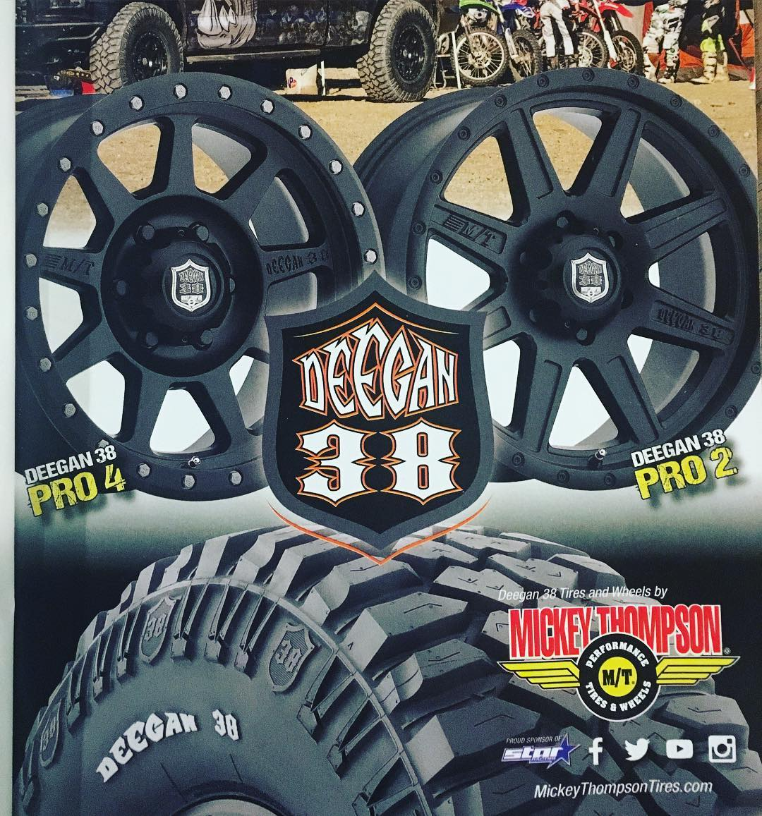 Stoked on the response on the tires .  Seems like they work well. #Deegan38tires and #wheels by @mickeythompsontires MickeyThompsontires.com #maketiresgreatagain