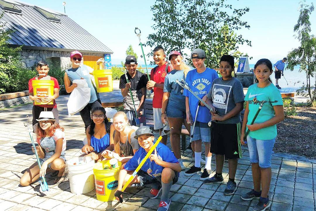 Our youth are keeping #Lake Tahoe's beaches clean this #summer with @liveatlakeview !