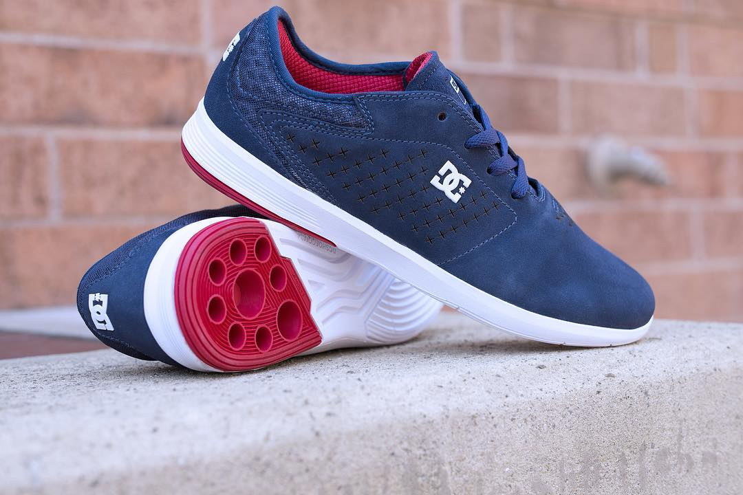 The New Jack S with IMPACT-I cushioning and radius sidewall for out of the box flick.  Available now in Navy/Red at your local shop or dcshoes.com/newjack. #DCShoes #dcnewjack