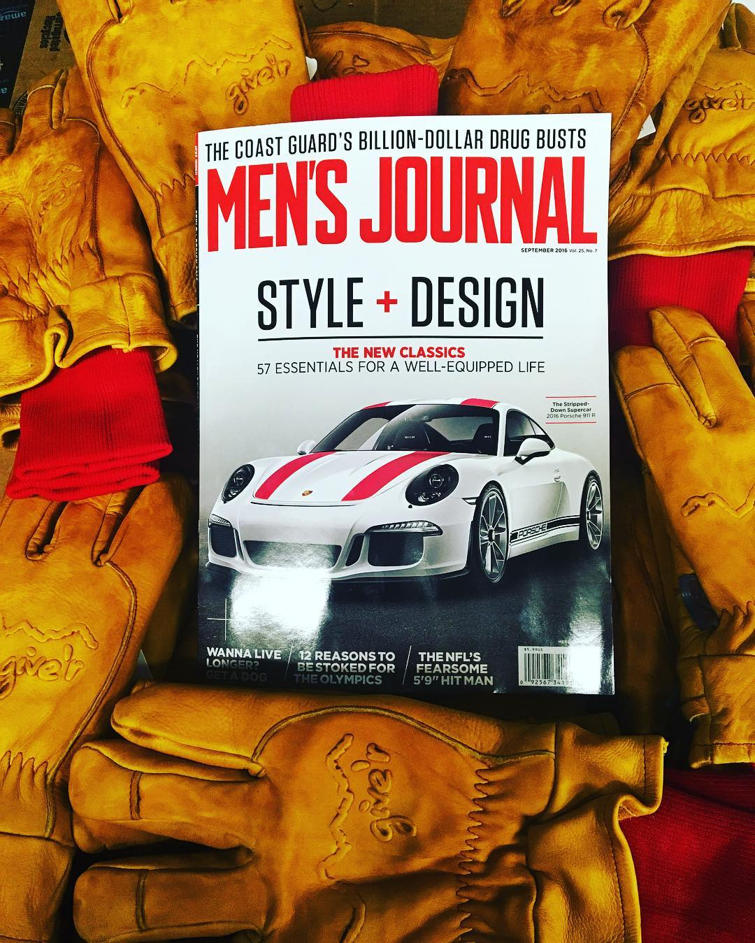 Check out the newest edition of @mensjournal !! So stoked to be part of this seasons Must Have Products!!! 4-Season Give'r Gloves. #gloves4life #giverjh