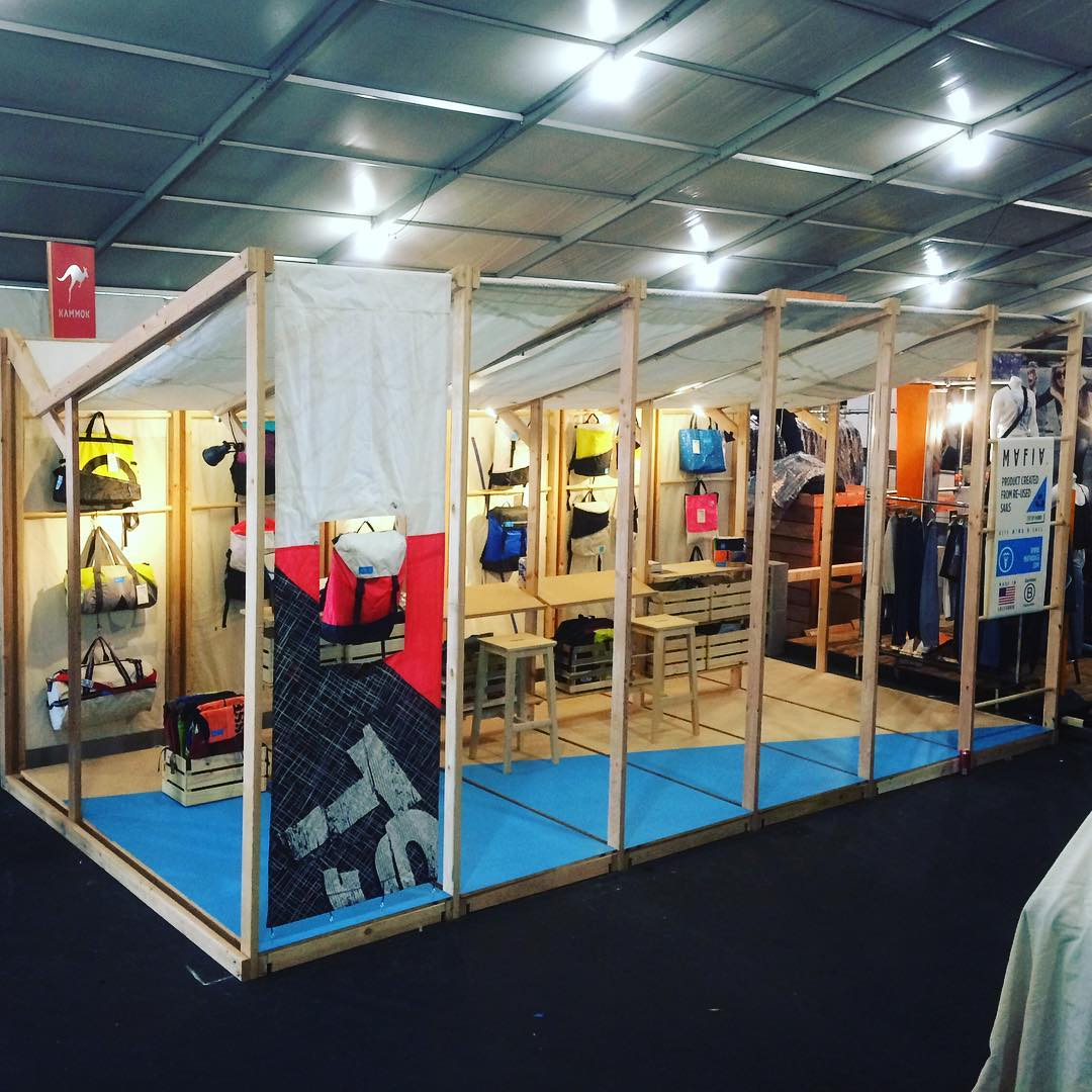 Ready to start @outdoorretailer summer show // We are at booth VO2295 presenting our new line of bags that we've been working for the past six months. Come by & enjoy!  #fromsailstobags #ventureout #or #outdoorreatailer