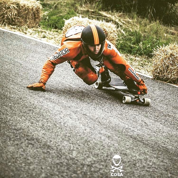 @niko_dh at #kozakovchallenge He's on his way home now after a great run and many podiums on the #eurotour. #winning #PredatorHelmets #DH6 #longboarding #racing #downhill #downhillskateboarding #homesweethome #Regrann