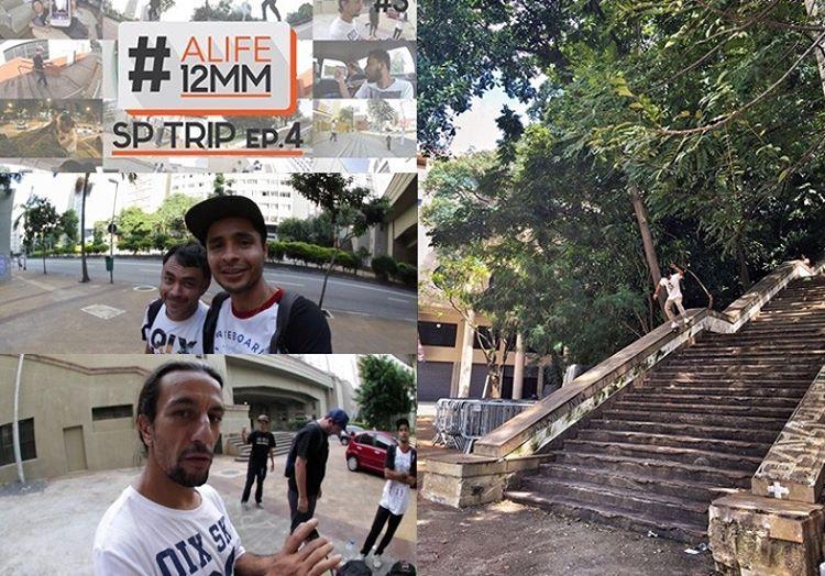 """Tiago """"Picomano"""" participou de mais um ALife. No quarto episódio do quadro do canal 12mm Skate, ele saiu em busca de alguns picos de rua por São Paulo. Na sessão rolou de tudo, encontro com amigos, diversão, manobras, segurança atrapalhando e muito..."""