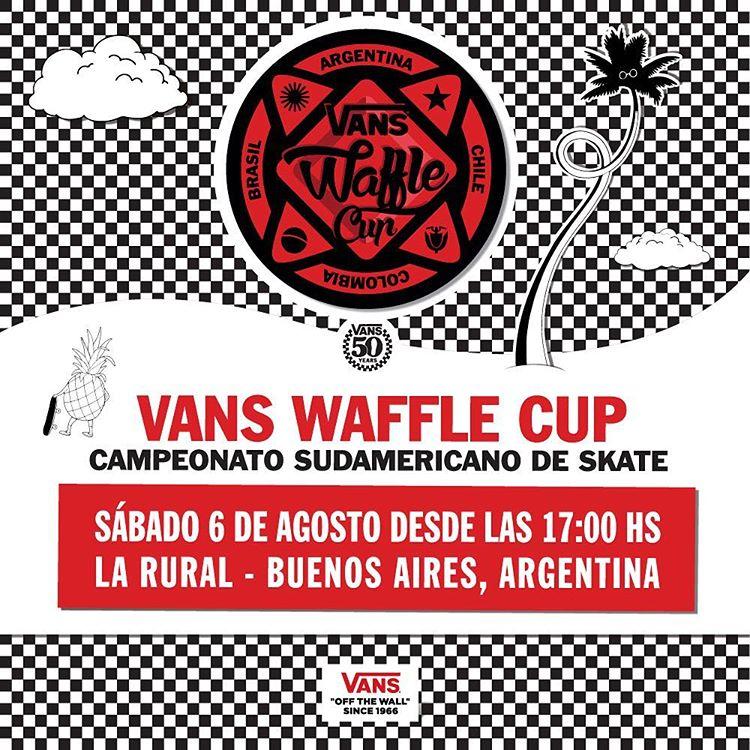 Este sábado se corre la final sudamericana del #VansWaffleCup con los mejores skaters de la región. Las entradas son gratis (click en el link de nuestro perfil para más info).