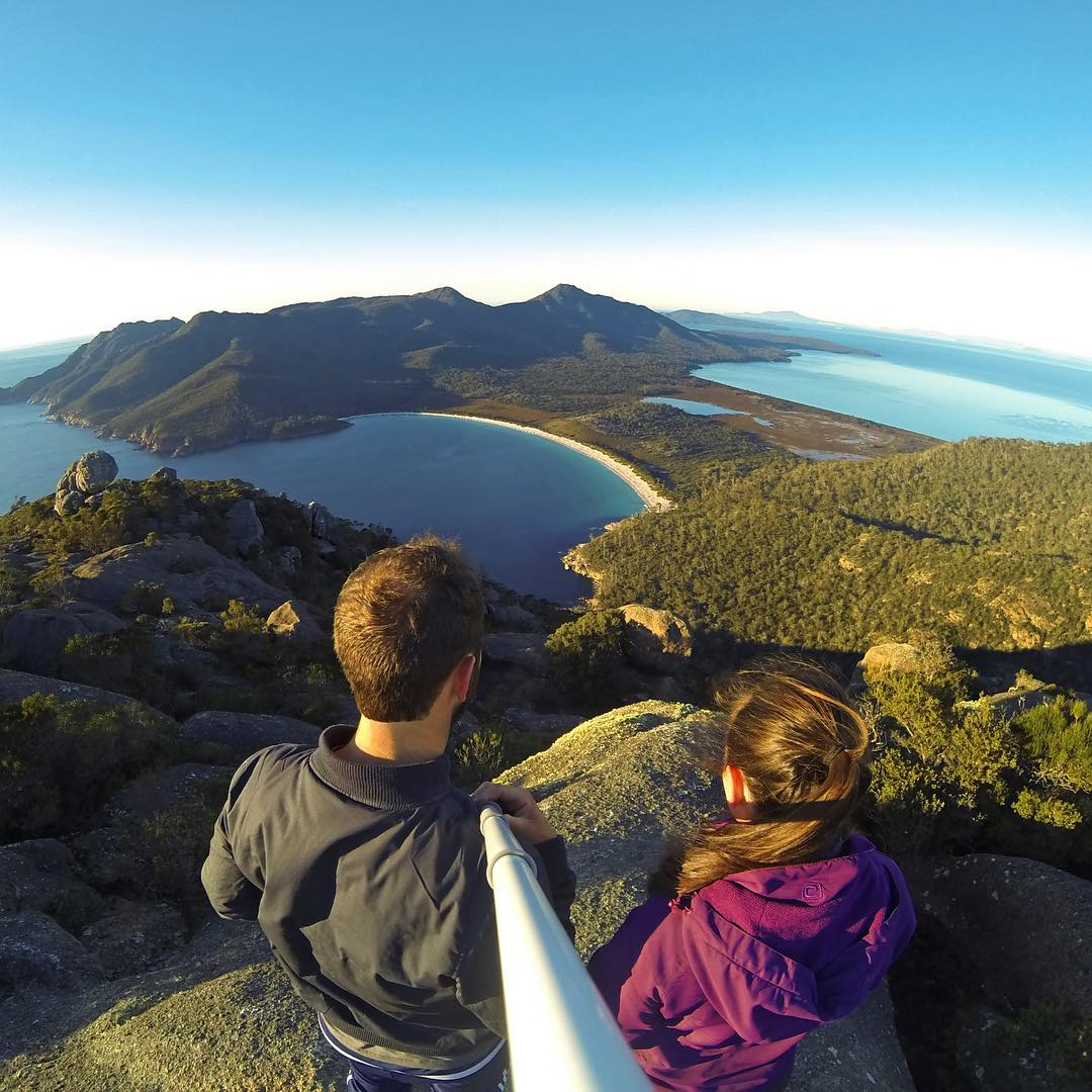 @an_d__y's view of Wineglass Bay in Tasmania's Freycinet National Park. Shot with GoPro HERO4 & GoPole Reach. #gopro #gopole #gopolereach #wineglassbay #tasmania