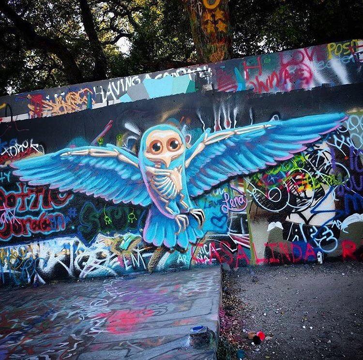 @lenatx • • #ATX #Texas #tx #spratx #art #mural #lena