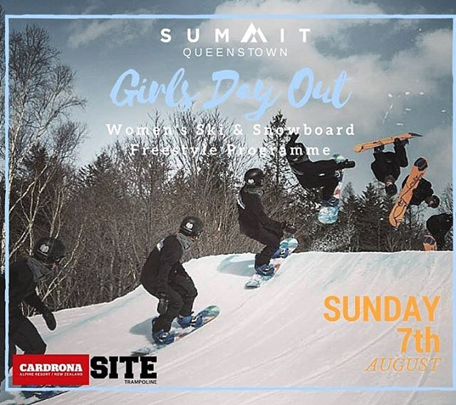Wanna improve your park game? Summit Queenstown is hosting Girls Day Out at @Cardonaparksnz on Aug. 7. Don't miss it! Rider: @cayleyalger // #sisterhoodofshred #skiing #snowboarding #skilikeagirl #newzealand #summit #girlsdayout