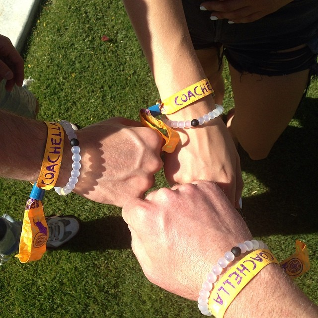 Don't be shy if you see someone else rockin a lokai, go say what's up! #livelokai #coachella