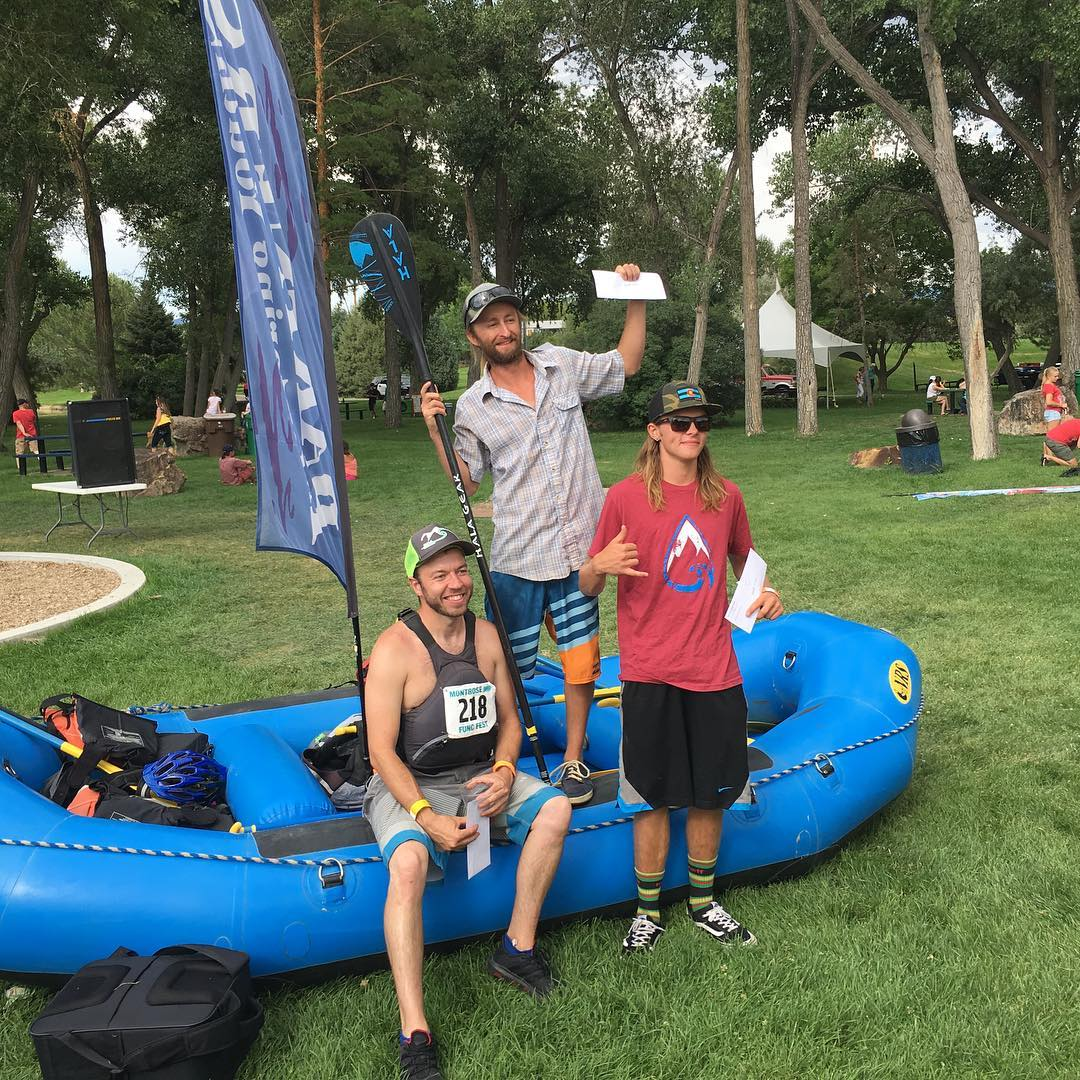 Congrats to new #halagear athlete @sickwavez for winning SUP cross at FUNC fest, @bodhiharrison on 2nd, and @john.blackshire in 3rd!!!