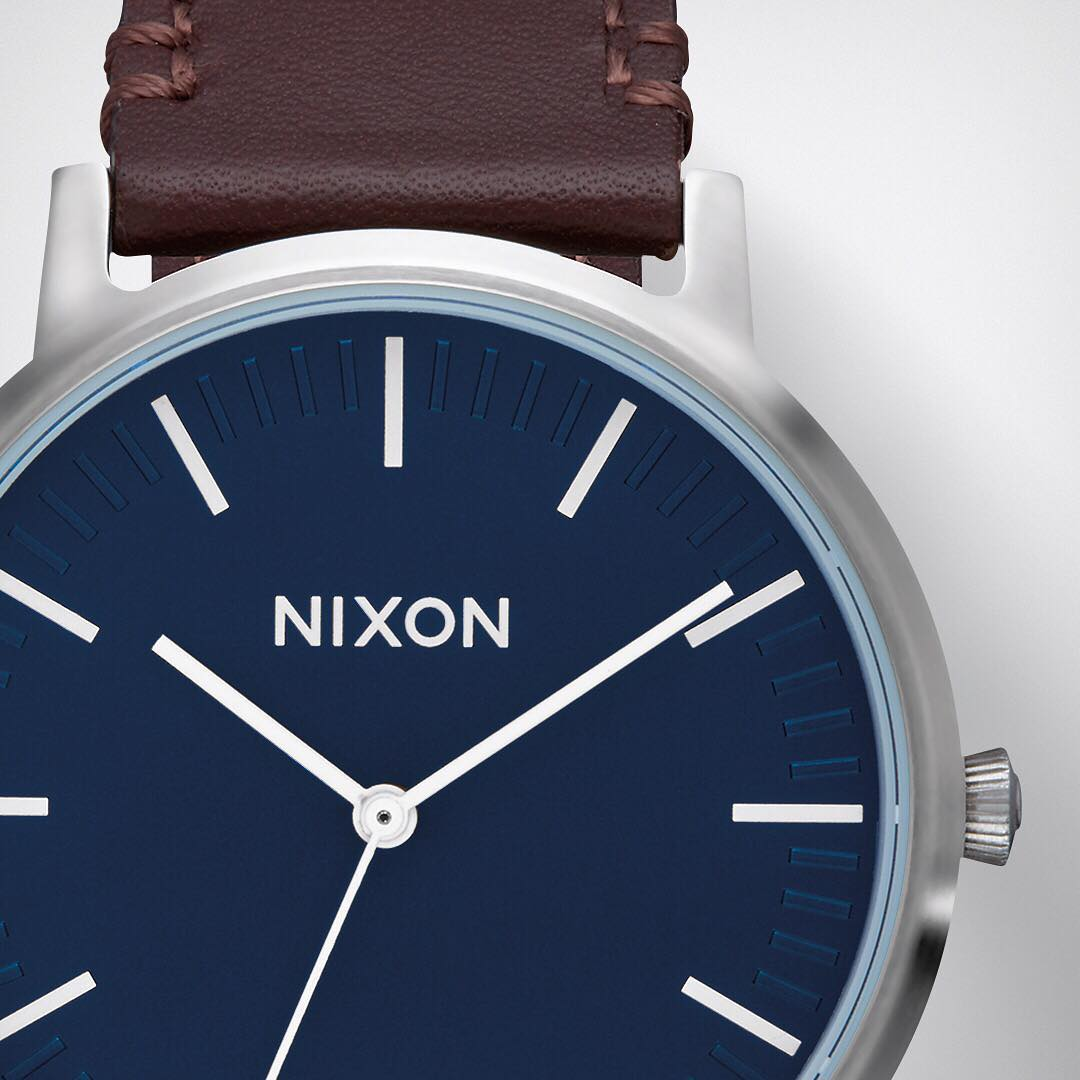 Clean and considered. The #PorterLeather makes a statement without all of the excess. #Nixon