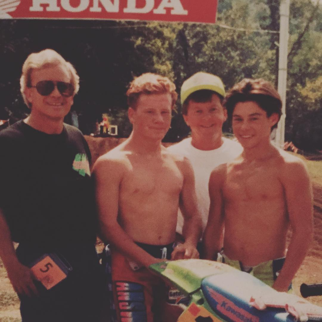 #TBT racing @lorettalynnmx with my dad @johnfdeegan (team green hat) With my friend Joey Pratt. We are still friends. That's the bond you build in #Moto