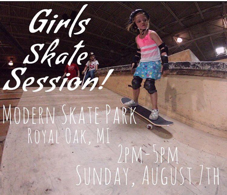 Join us this Sunday @modernskate for our monthly @michigangrocrew session. All ages and abilities welcome