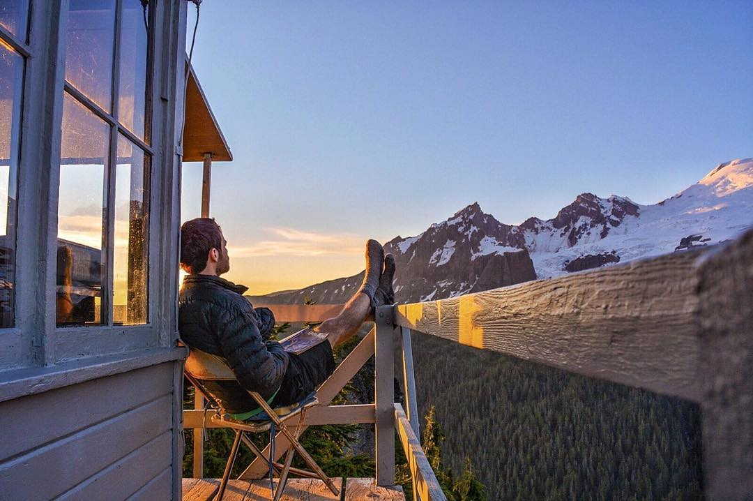 Closing the day with a beautiful sunset overlooking the North Cascades is always a great idea