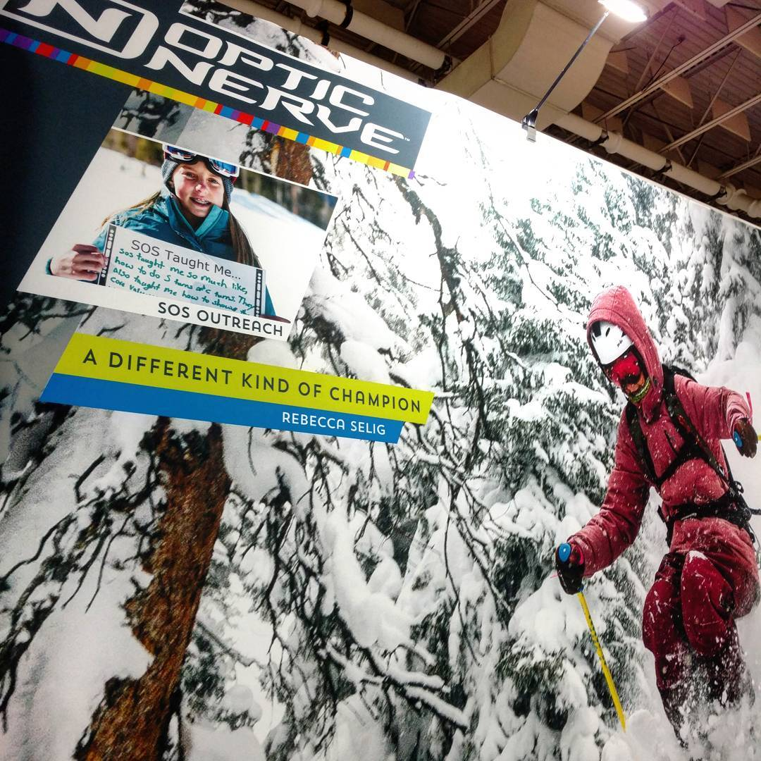 Our@sosoutreach youth highlighted in an awesome way at the @opticnerveeyewear booth at #outdoorretailer !