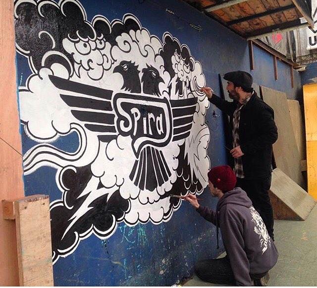 @rolytattooquilmes sellando las paredes del @ehparkparadise_skatepark