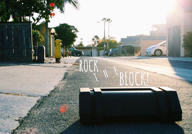 Caution: High risk of noise complaints from your neighbors. #NYNErock #rocktheblock #neighborhood #bluetoothspeaker