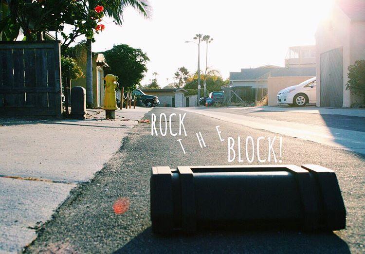 Caution: High risk of noise complaints from your neighbors. #NYNErock #rocktheblock #neighborhood #bluetoothspeaker