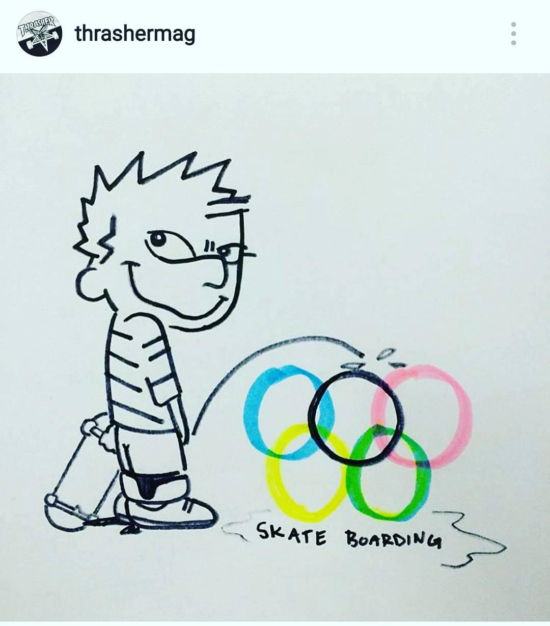 Finalmente el #skateboarding será #olimpico en 2020, qué opinás ..?!? @thrashermag ya dejó claro que no le gusta ... y a VOS ..?!?