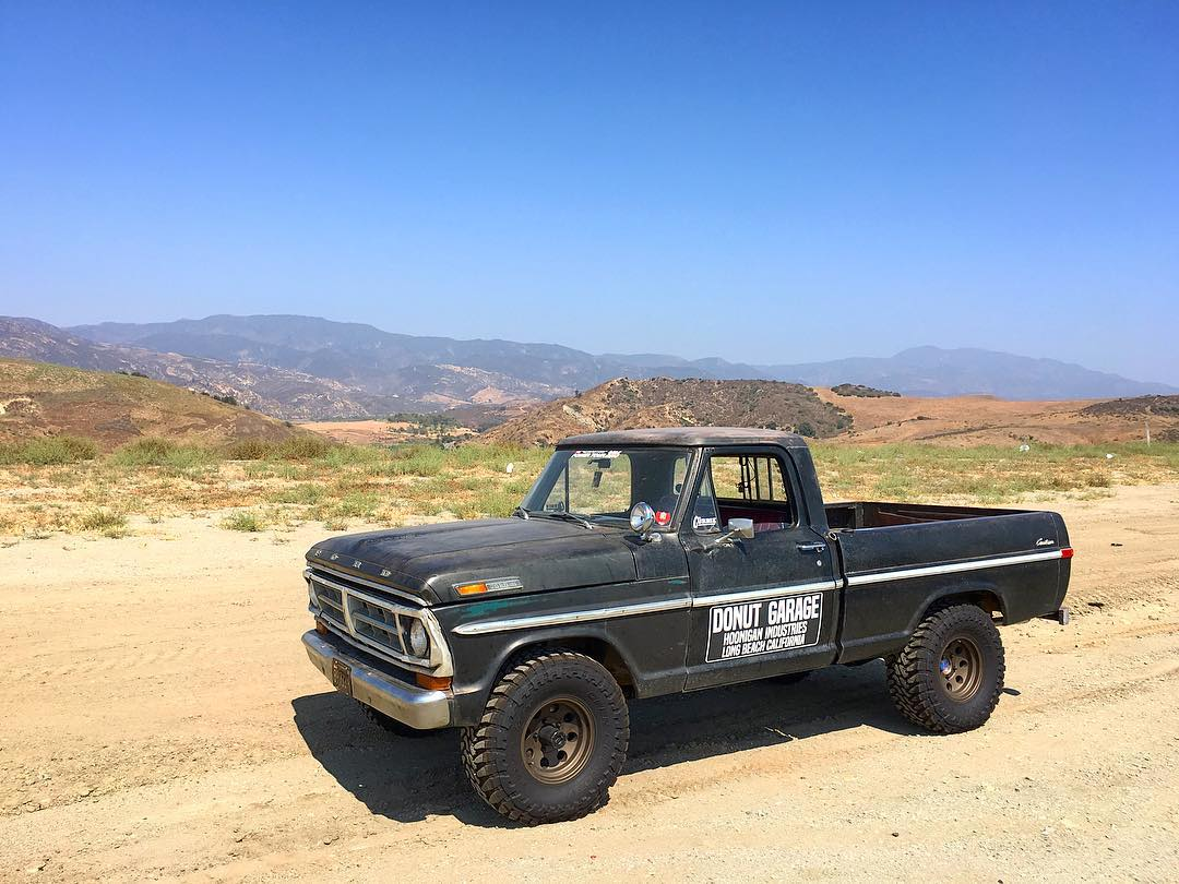 Shout out to our pals at @magnaflow for getting @baker_ashley's F-100 sounding proper! Picked it up and took the other, other scenic route home. #hoonigan #f100