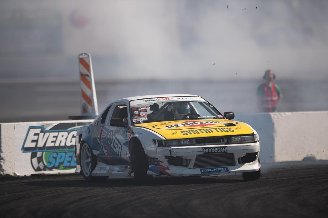@formulad Seattle is under way! Who is out here? Our dude @patgoodin in his blown LS powered s13 killing tires!