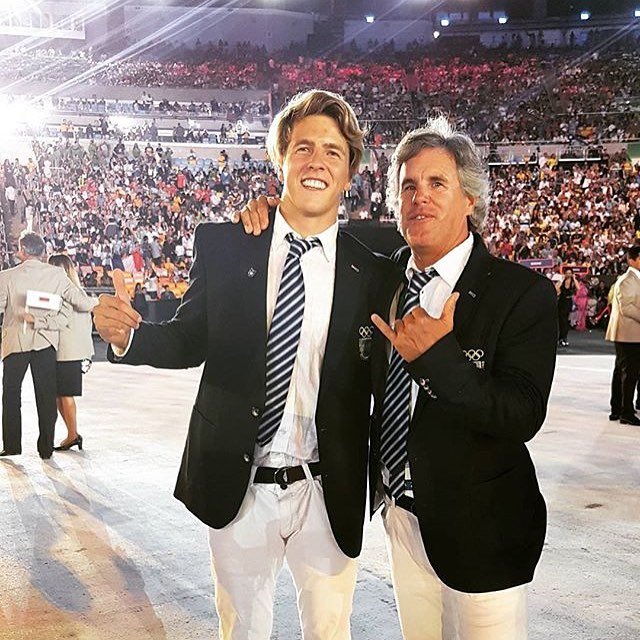 Stoked to see these two homies at the #Olympics Opening Ceremony.  #windsurfing #mafiateam #sailing #perubeach