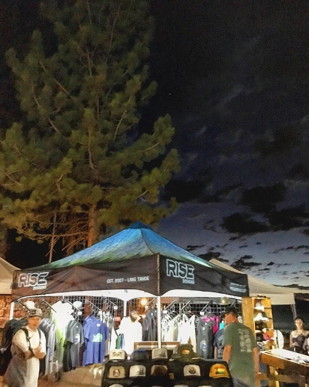 Last night at @liveatlakeview . The sky was something else. Night shot. See you next week @meyersmtb on Saturday. #risedesigns #inspiredbynature #clouds #chasingsunsets #tahoelife #tahoesnaps #trees