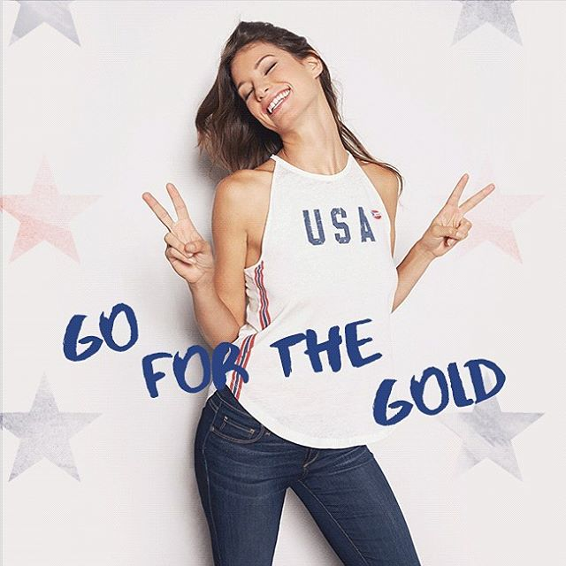 Let the Olympics begin! Let's go team USA! #openingceremony #USA #goforthegold #XXXIolympiad #rio2016