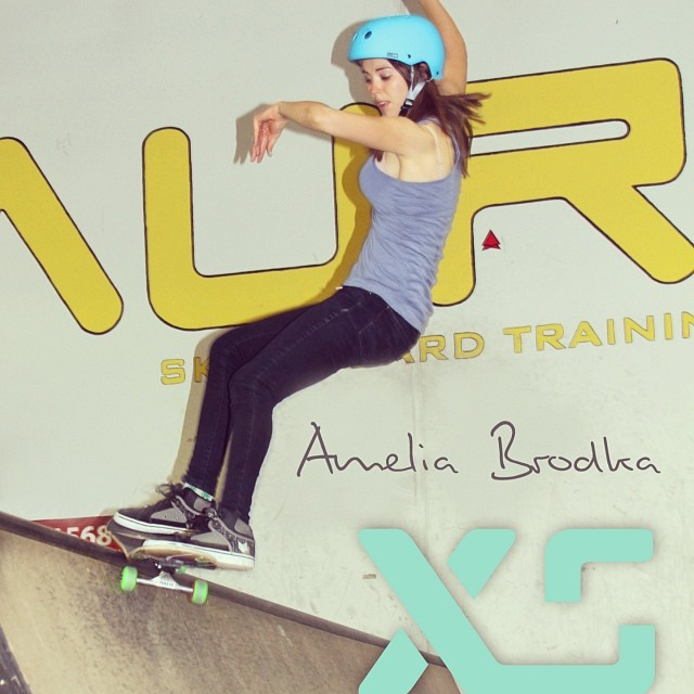 We are excited to welcome @ameliabrodka to our team. She's awesome!! #SoCal #ameliabrodka #xshelmets #skate