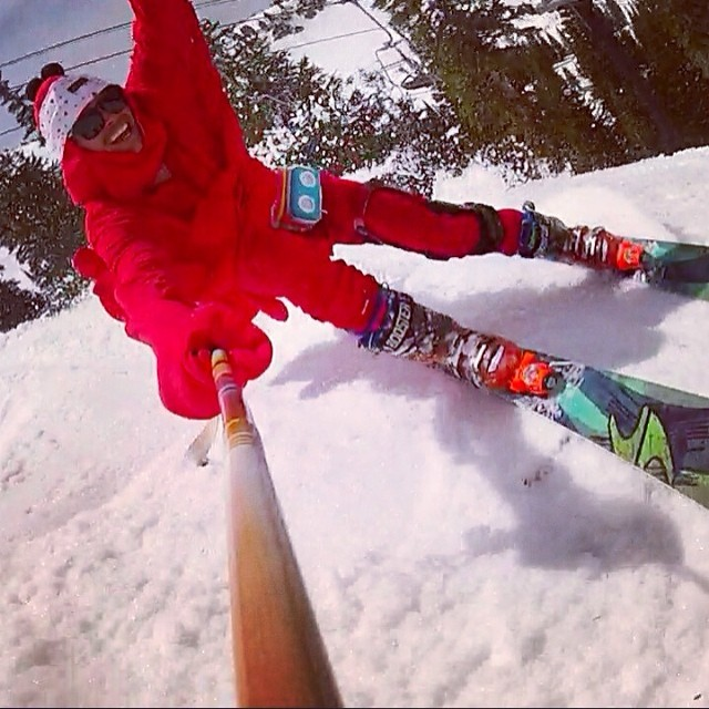 "Can't stop the lobstah, aka @mhundhammer.  Though treacherous, the ""wiggle"" through Fred's Trees was a perfect match for @altaskiarea's closing day debauchery // #plantyoursoul #selfieonastick // @tecnicablizzard @jammypack @skidagram @rnelsonparrish..."