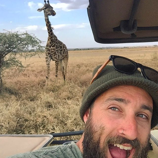"How cool is this selfie?! @j_leeroy with @Gondwana_Ecotours in Tanzania! For every purchase of SOLO shades made using the code ""Gondwana15"" 15% of the proceeds will go towards a clean water initiative for the Maasai in Tanzania. Nobody should have to..."