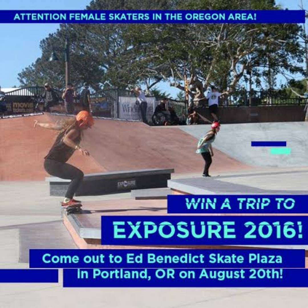 Attention Portland! In 2 weeks @zumiezbestfootforward contest will be at Ed Benedict Park ~ and female skaters who compete will have their scores entered to win a flight to EXPOSURE 2016! Photo by @jaimeowens