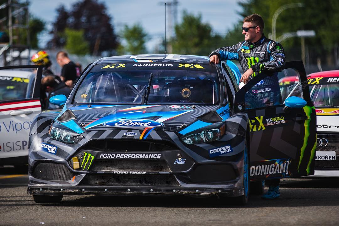 Our dude @andreasbakkerud makin moves, into third place in Q1 at #CanadaRX! #hoonigan #ford