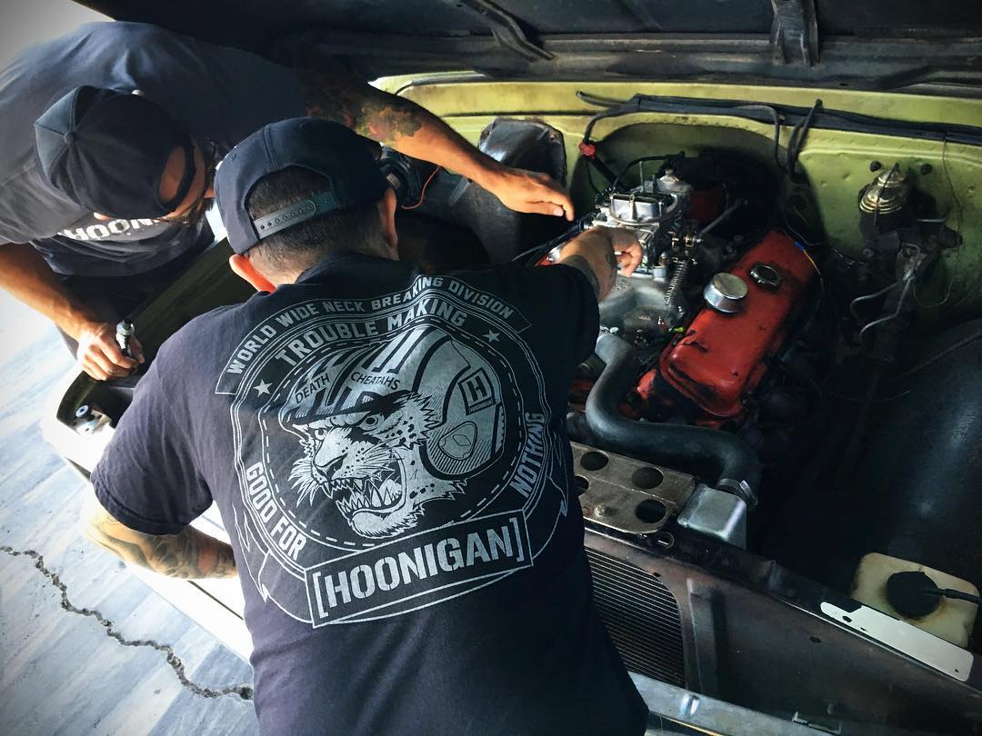 Neck Breaking tee in Black available at @tillys #supporthooniganism #tillys #hoonigan