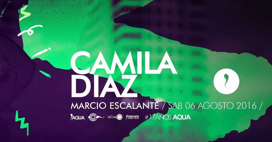 Camila Diaz en el b. Enjoy!