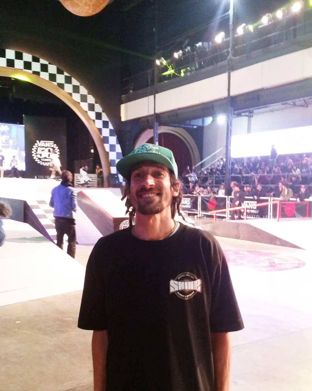 Mari fue parte del jurado del #vanswafflecup2016 que quedo en manos de @sandromoral #vansargentina #shineskateboarding #vogskateboards