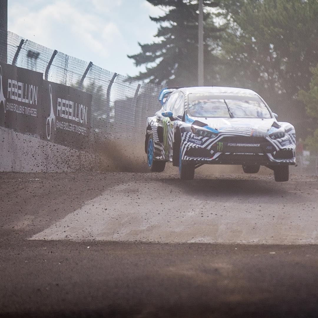 Flat out, over crest! @kblock43 firing off some fast lap times today at #CanadaRX.