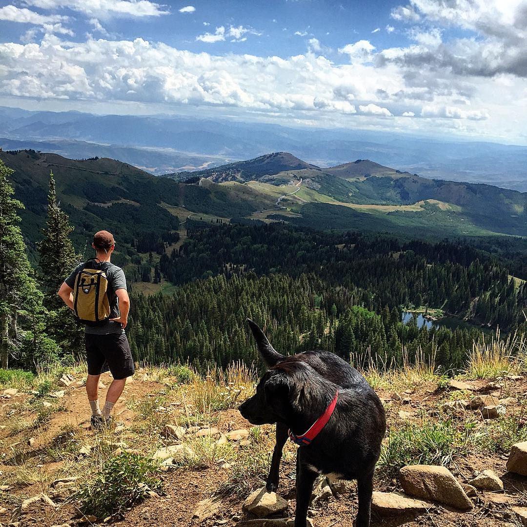 Last day out in @saltlakecity_utah and ending an awesome week at @outdoorretailer with special guest #colbiecalypso #emmaslitter modeling our new @sterlingrope dog leash. Follow along with our live Instagram story.