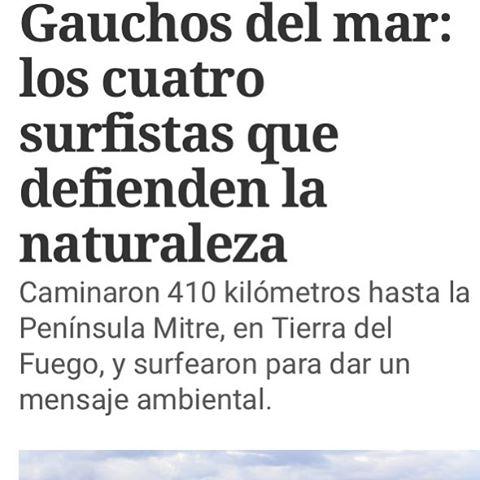 Hoy salió una linda nota de la Expedición por #PeninsulaMitre en @diarioclarin: http://www.clarin.com/sociedad/Gauchos-mar-surfistas-defienden-naturaleza_0_1627037439.html