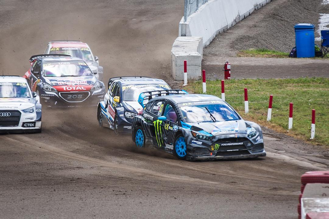 Congratulations to our dude @andreasbakkerud - just won his semi final race @fiaworldrx #CanadaRX #hoonigan #ford