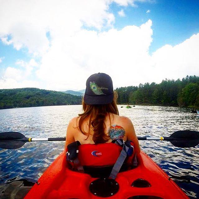 @mollyrae27 enjoying some #vermont waterways, summer weather, and her Coalition trucker hat.  Happy warm days folks!