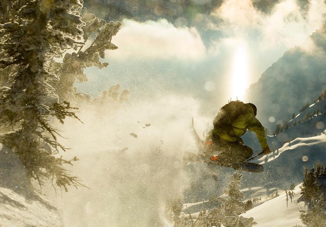 #winteriscoming  Skier: @ericbalken PC: @acpictures  #embracethestorm | #flylowgear