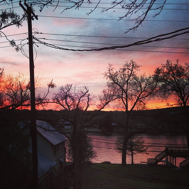Skies on fire over Lake Austin. #thismustbetheplace