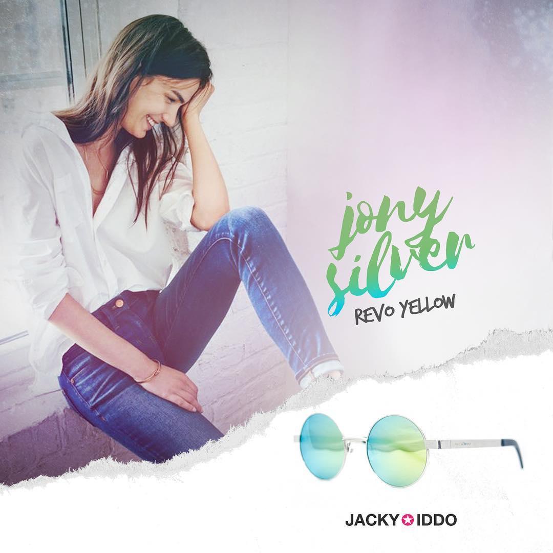 ✚ Jony Silver Revo Yellow ✚  Unisex, con cristales espejados en color yellow-green. • • #JackyIddo #vintage #vintagelook #style #lentes #anteojos #sunglasses #vintagestyle #vintagelens