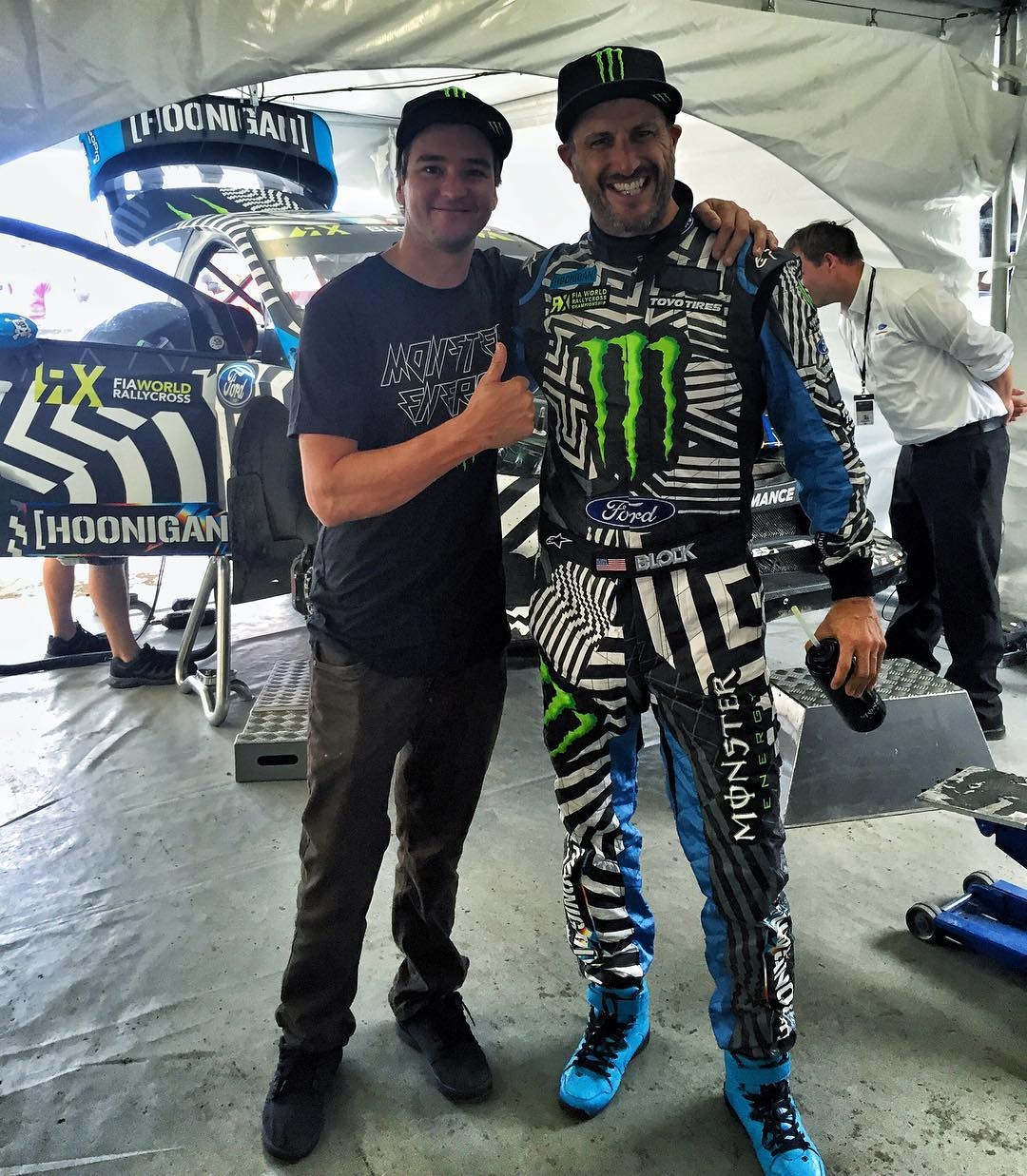 "Look who showed up to #CanadaRX: fellow @MonsterEnergy athlete Blake ""Bilko"" Williams! @BilkoFMX had a Nitro Circus event here in Canada last night, so he popped in to check out the @FiaWorldRX racing today. Always good to see this dude around!..."