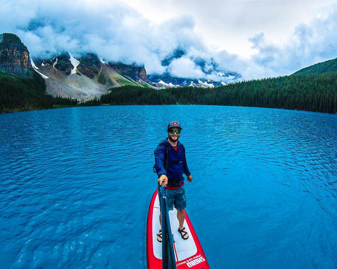 Photo of the day: #seehappysummer on the path less traveled like @aparker_ut with Moraine Lake to himself. . . Hashtag #seehappysummer on all your summer adventures for a chance at giveaways all summer long! #SEEHAPPY